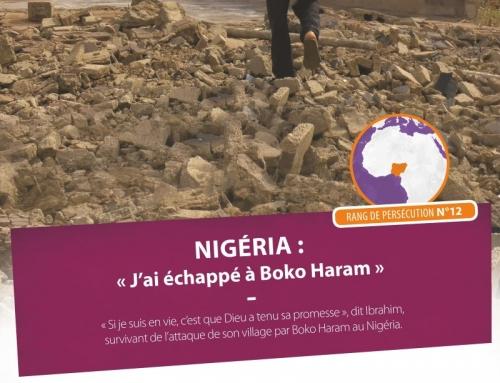 Ibrahim, rescapé de Boko Haram. Ve 7/11 20h