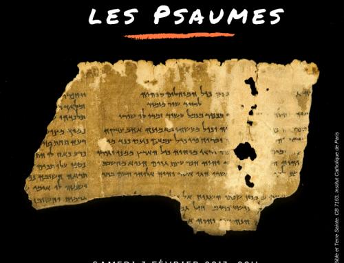 Redécouvrir les Psaumes – Conférence le 3 fév.